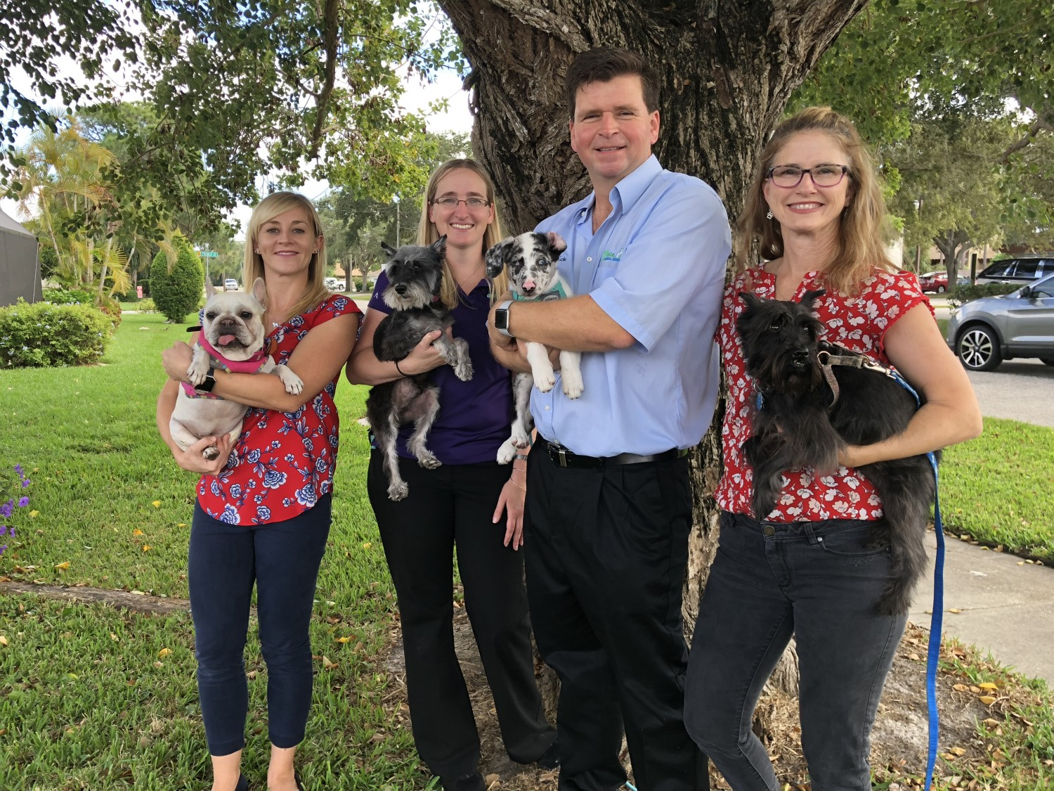 Sarasota Florida Veterinarians Edward Cole, Christina Whitcomb, Jeanette Cole. Marcie Burn Animal Medical Gulf Gate